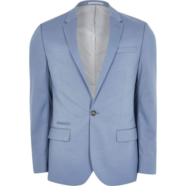 River Island Mens Blue slim fit suit jacket
