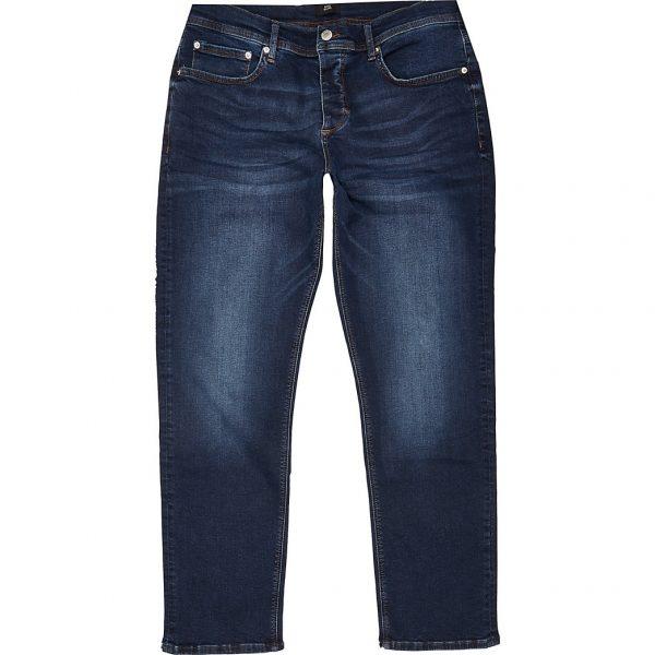 River Island Mens Blue straight Dean jeans