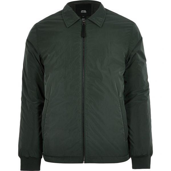 River Island Mens Green padded coach jacket