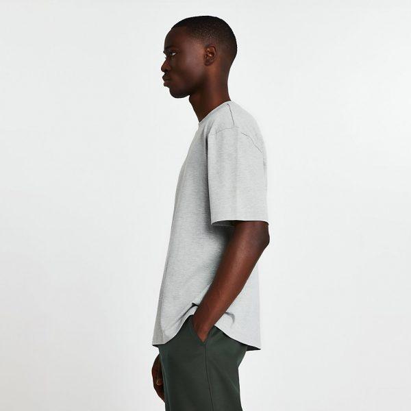 River Island Mens Grey short sleeve oversized t-shirt