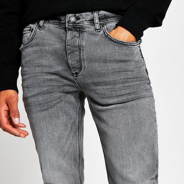 River Island Mens Grey slim fit jeans