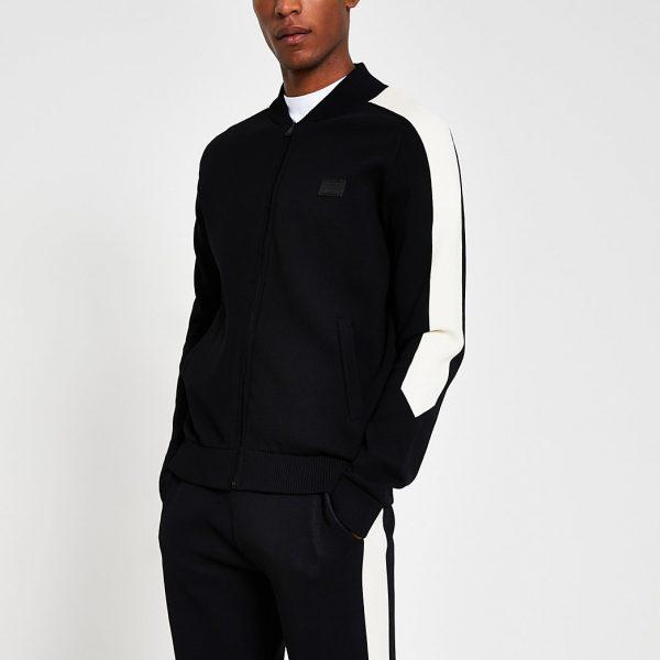 River Island Mens Masion Riviera black slim fit jacket