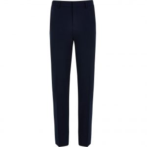 River Island Mens Navy skinny fit smart trousers