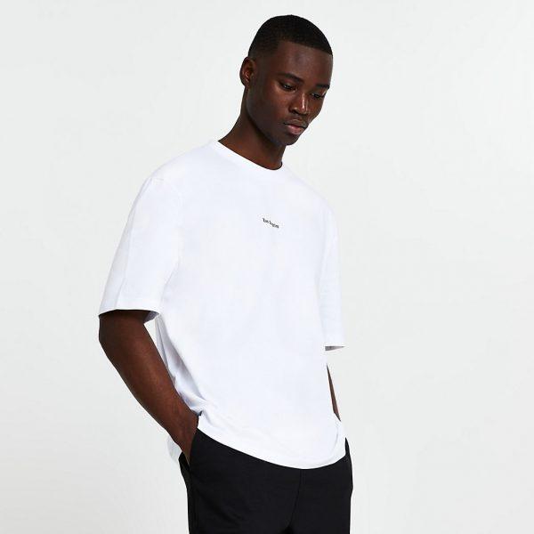 River Island Mens White premium 'Los Angeles' oversized t-shirt
