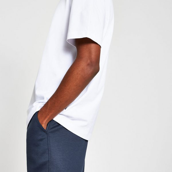 River Island Mens White premium oversized fit T-shirt