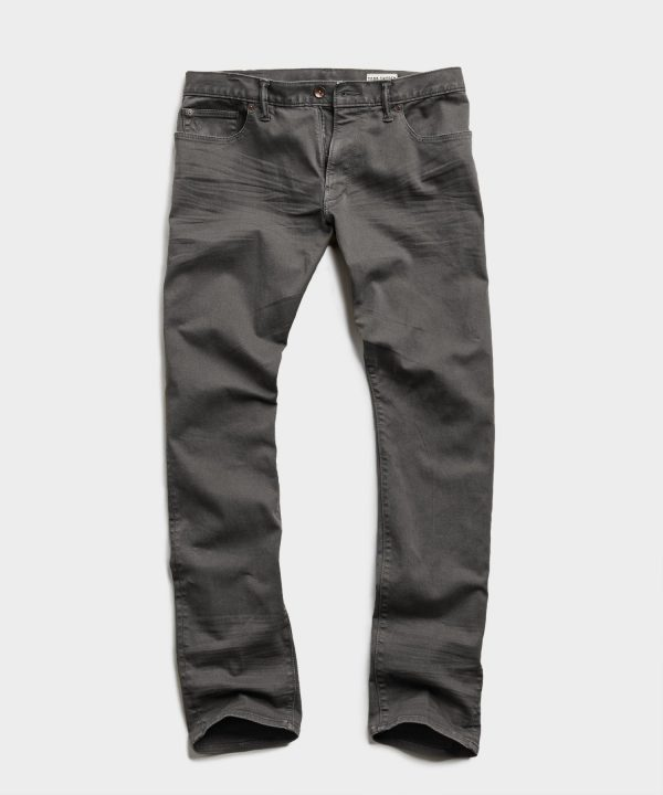 SLIM FIT 5-POCKET CHINO IN DARK GRANITE