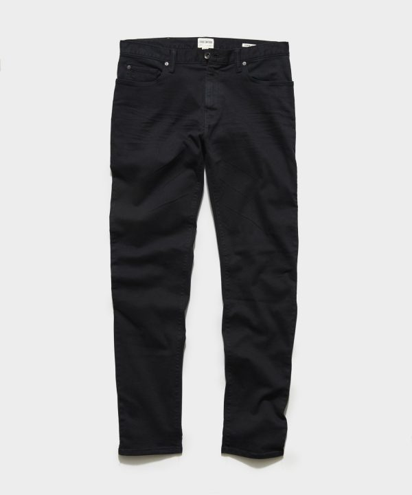 STRAIGHT FIT 5-POCKET CHINO IN BLACK
