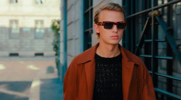 Jonas Glöer fronts Salvatore Ferragamo's spring-summer 2021 men's campaign.