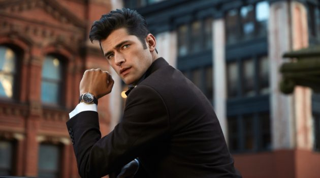 Sean O'Pry dons OMEGA's De Ville Tresor watch for a social media campaign.