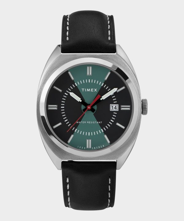Timex + Todd Snyder Colorblock Milano Watch in Black/Turquoise