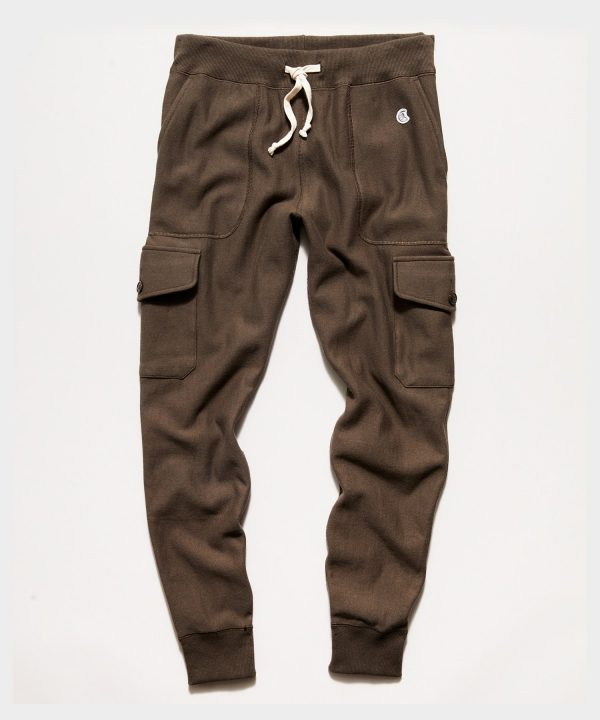 Utility Cargo Sweatpant in Olive Drab