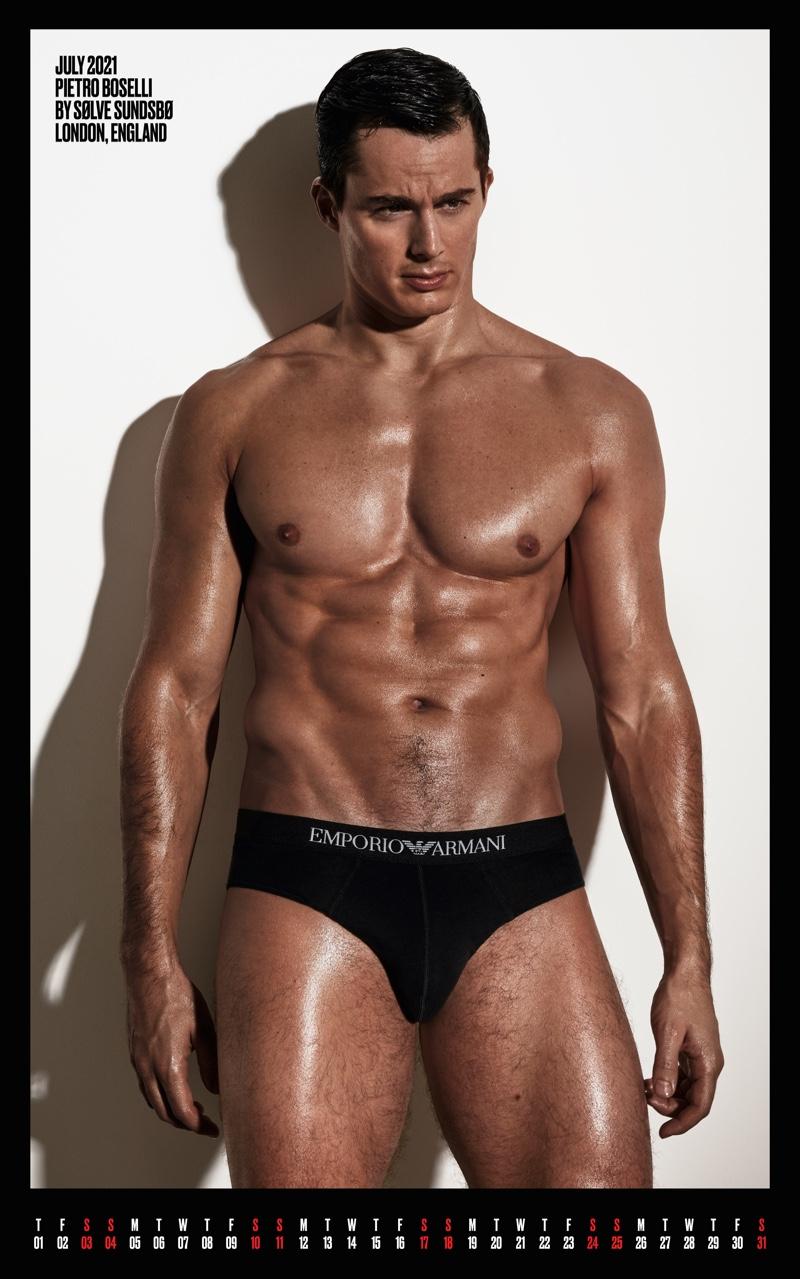 Pietro Boselli Emporio Armani Underwear Picture 2021 V/VMAN Calendar