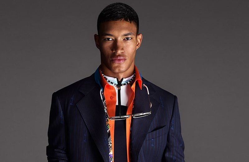 Raphael Balzer stars in Versace's spring-summer 2021 men's campaign.
