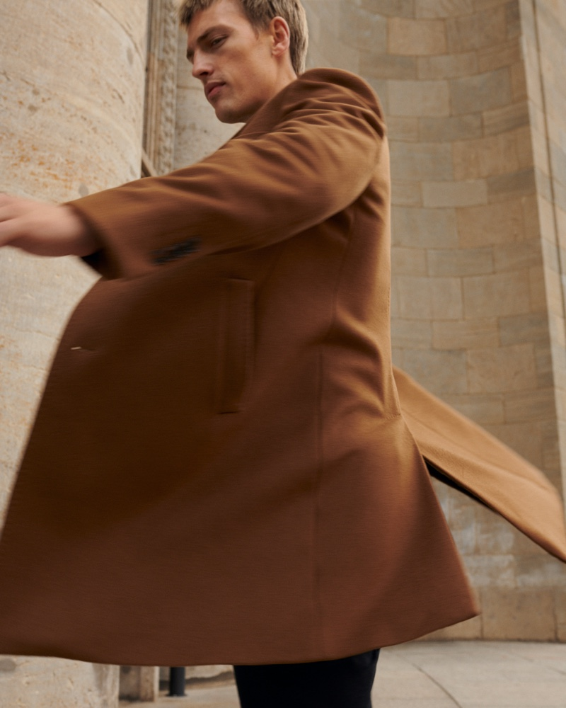 Victor is a 'Man About Town' for Massimo Dutti