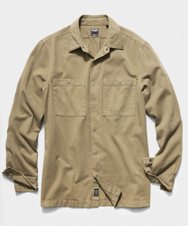 Workwear Snap Jacket in Khaki