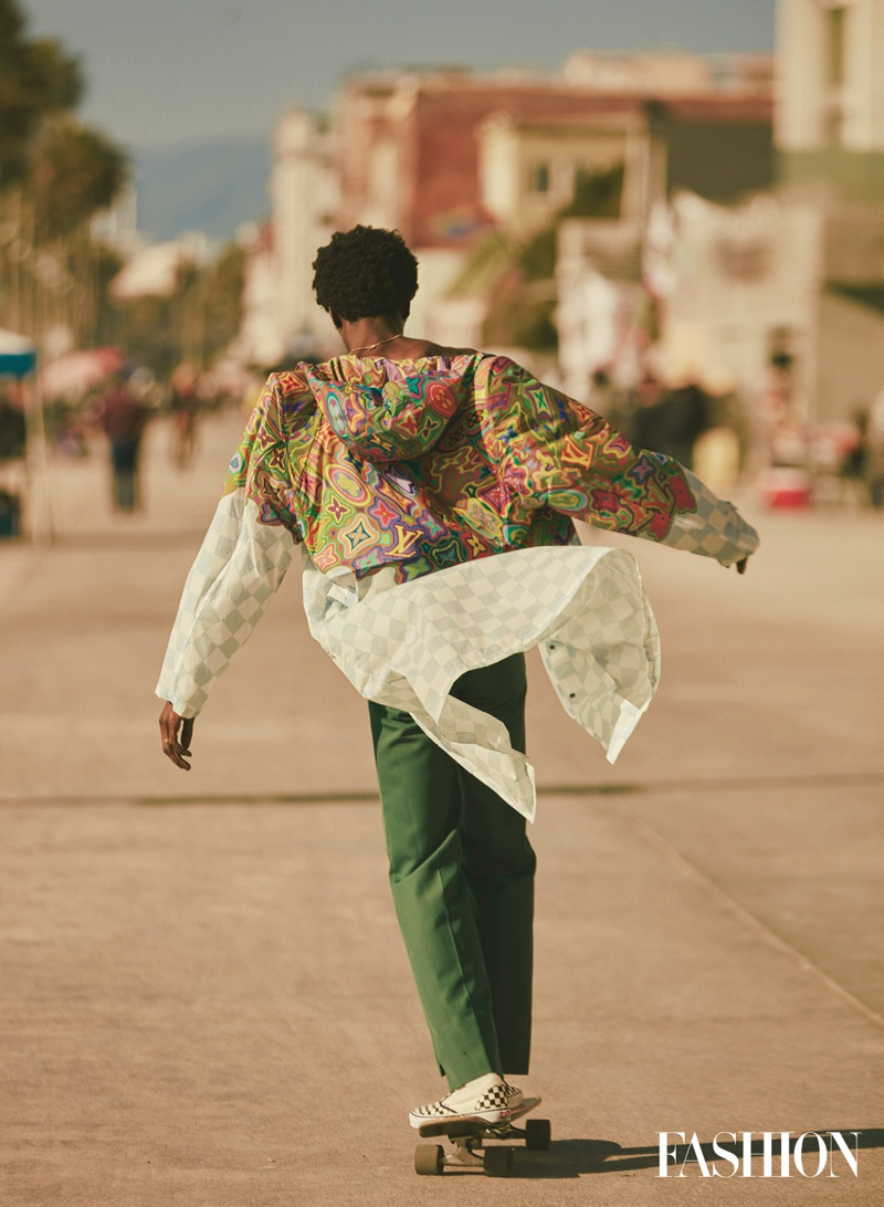 Adonis Hits the Beach for Fashion Magazine Cover Shoot