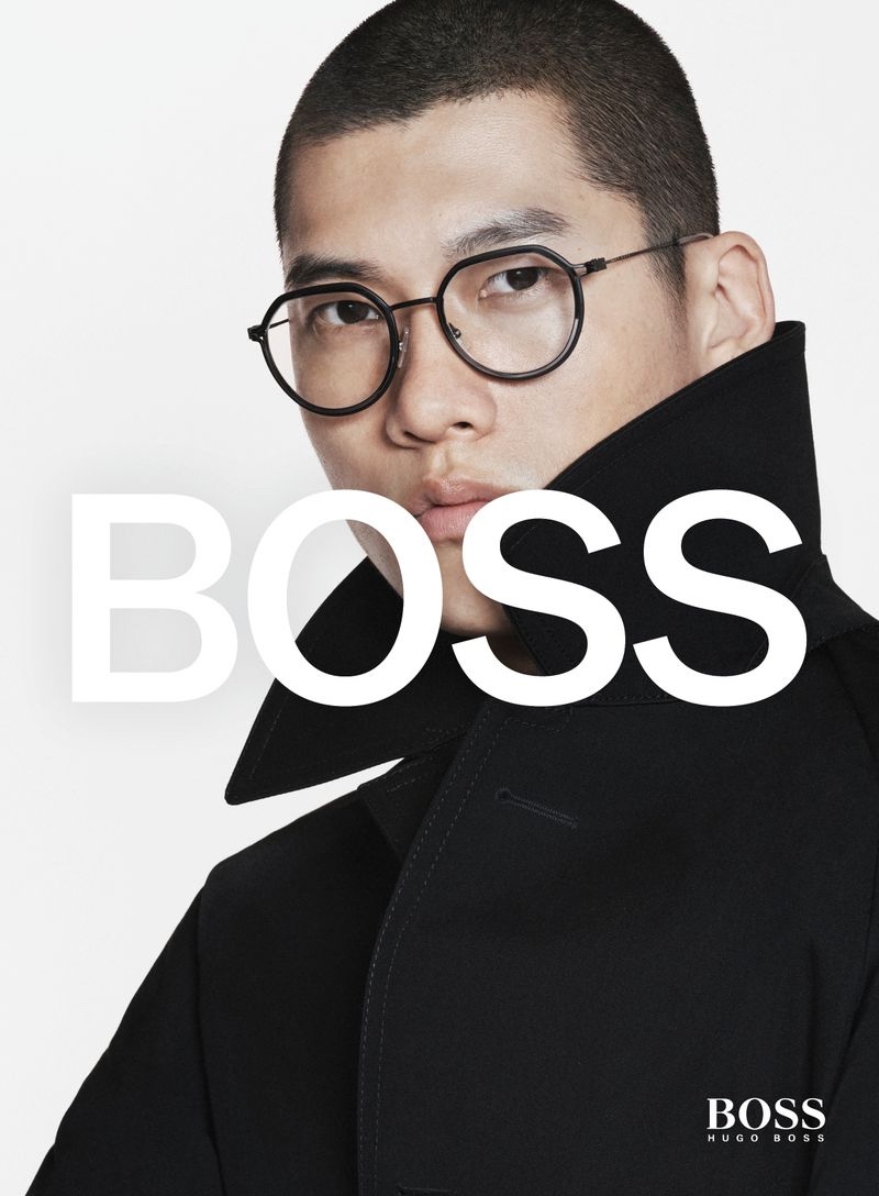 David Sims photographs Yun Hoseok for BOSS's spring-summer 2021 men's eyewear campaign.