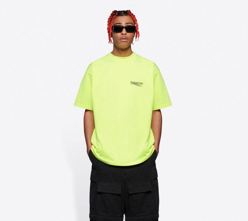 Balenciaga Yellow Political T-Shirt