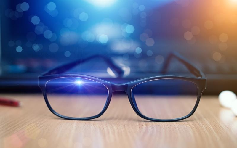 Blue Light Filter Glasses Concept