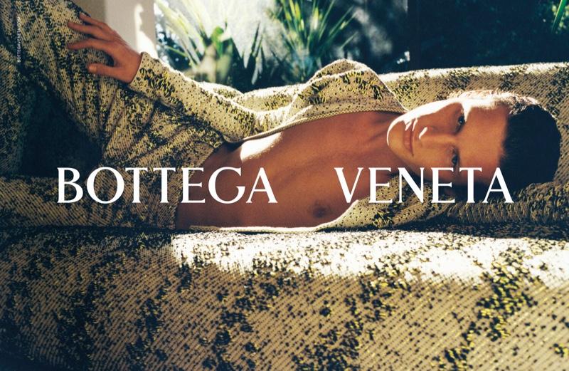 Emil Schueler stars in Bottega Veneta's spring-summer 2021 men's campaign.