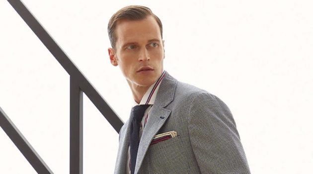 German model Lars Burmeister links up with Brunello Cucinelli to showcase its spring-summer 2021 suits.