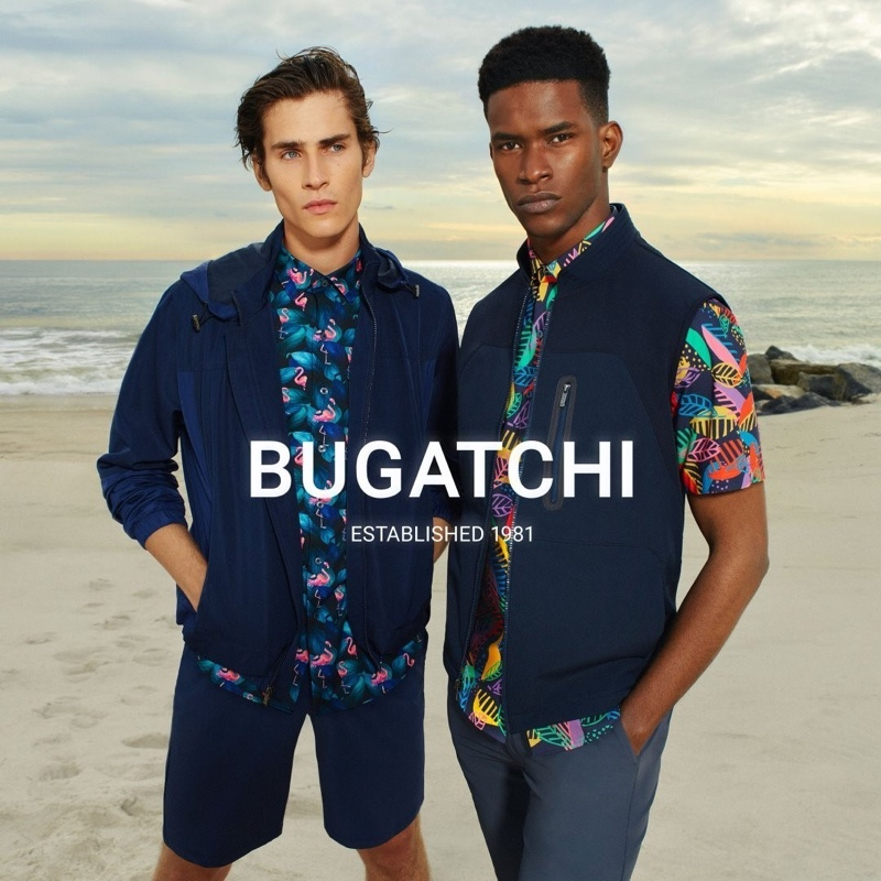Bugatchi taps models Liam Kelly and Salomon Diaz as the stars of its spring-summer 2021 men's campaign.