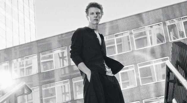 Tim Schuhmacher embraces relaxed proportions in a look from the Core by COS collection.