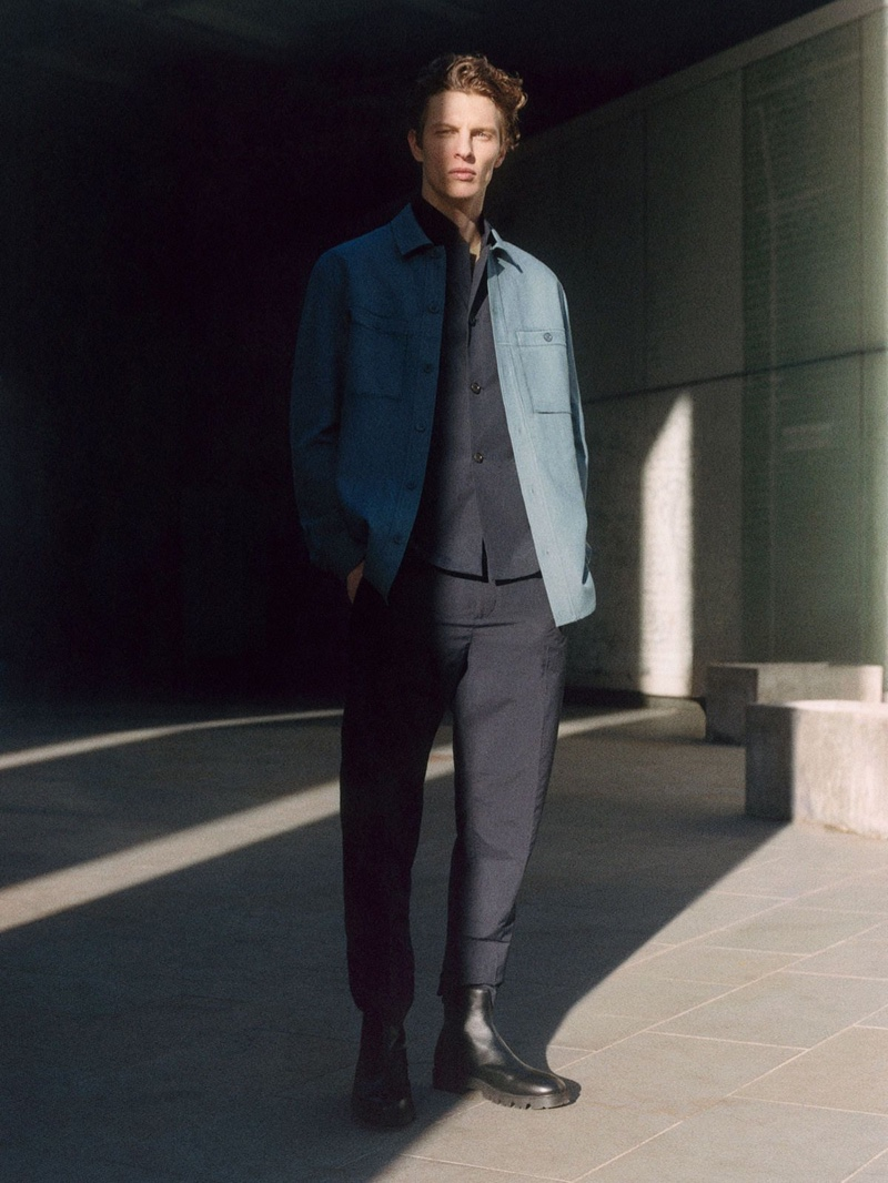 Mel Bles photographs Tim Schuhmacher in the Core by COS collection.
