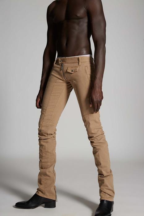 DSQUARED2 Men 5 pockets Camel Size 32 98% Cotton 2% Elastane