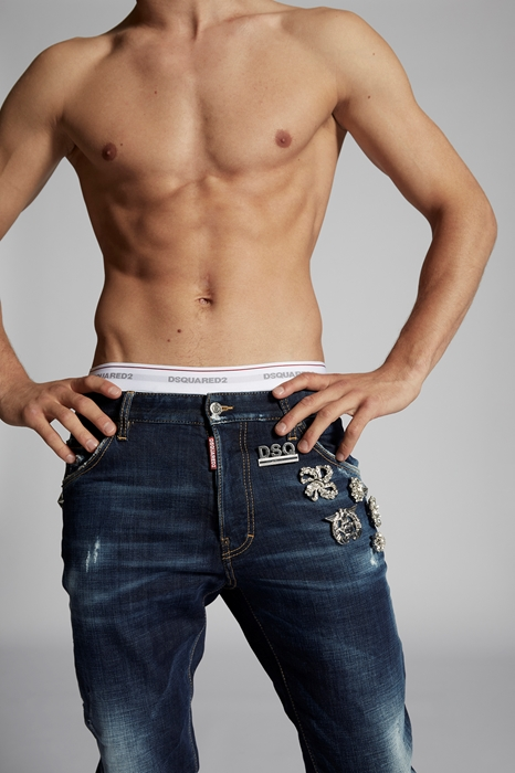DSQUARED2 Men 5 pockets Dark blue Size 36 99% Cotton 1% Elastane