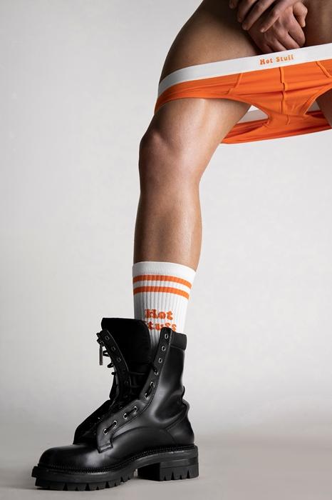 DSQUARED2 Men Ankle socks White Size 7-8 72% Cotton 25% Polyamide 3% Elastane