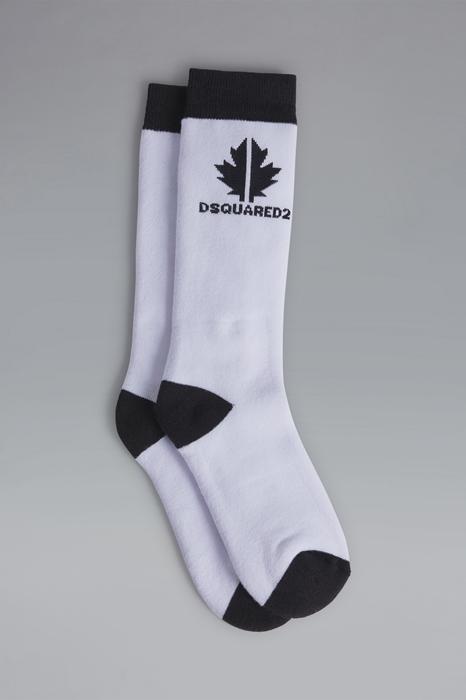 DSQUARED2 Men Ankle socks White Size I 80% Cotton 18% Nylon 2% Elastane