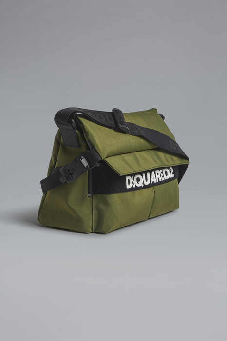 DSQUARED2 Men Bag Military green Size OneSize 91% Polyester 7% Polyurethane 2% Bovine leather