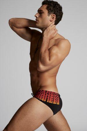 DSQUARED2 Men Beachwear Black Size 32 72% Polyamide 28% Elastane