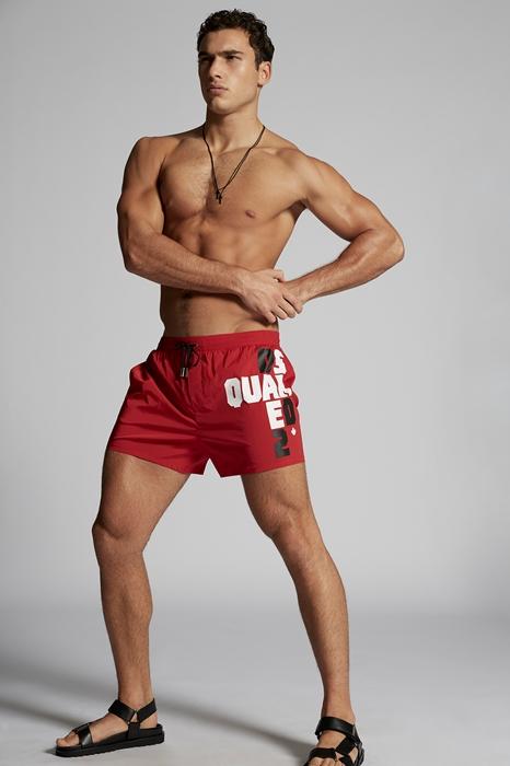 DSQUARED2 Men Beachwear Red Size 36 92% Polyamide 8% Elastane