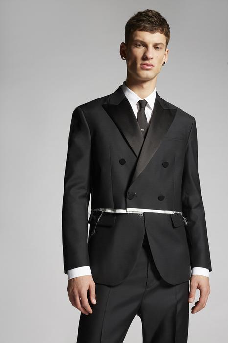 DSQUARED2 Men Blazer Black Size 34 65% Wool 35% Silk