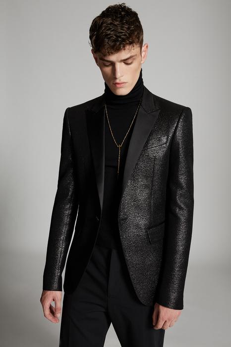 DSQUARED2 Men Blazer Black Size 42 45% Wool 37% Acetate 18% Polyester