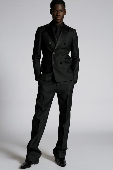 DSQUARED2 Men Blazer Black Size 44 65% Virgin Wool 35% Silk