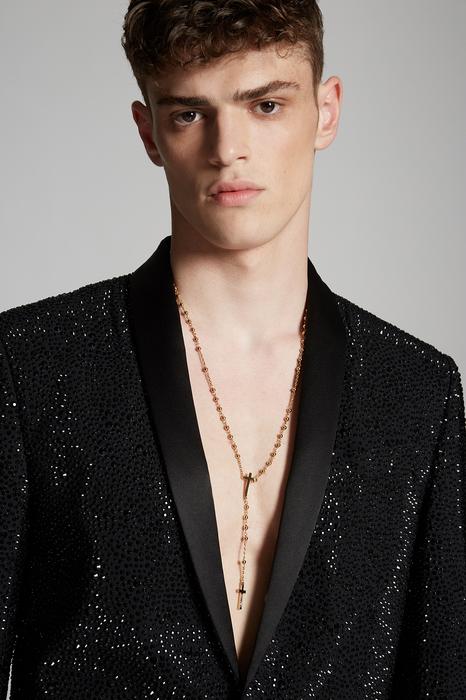 DSQUARED2 Men Blazer Black Size 44 95% Virgin Wool 5% Elastane Silk