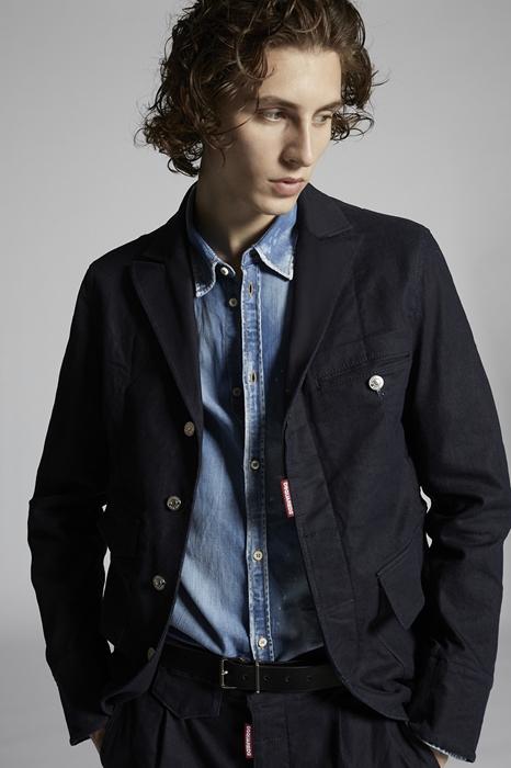 DSQUARED2 Men Blazer Blue Size 40 98% Cotton 2% Elastane