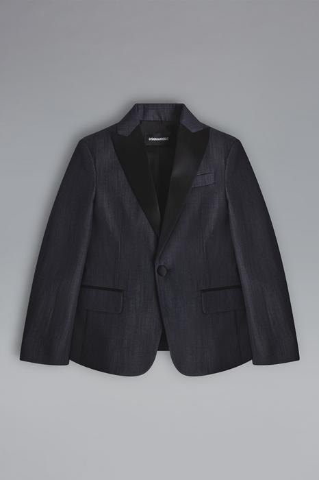 DSQUARED2 Men Blazer Dark blue Size 14 100% Cotton