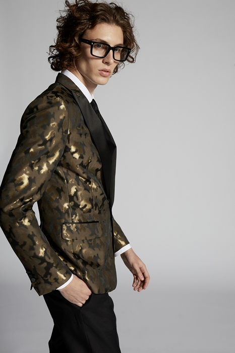 DSQUARED2 Men Blazer Gold Size 44 100% Polyester