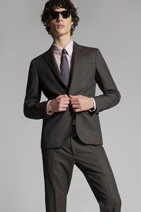 DSQUARED2 Men Blazer Lead Size 36 100% Virgin Wool