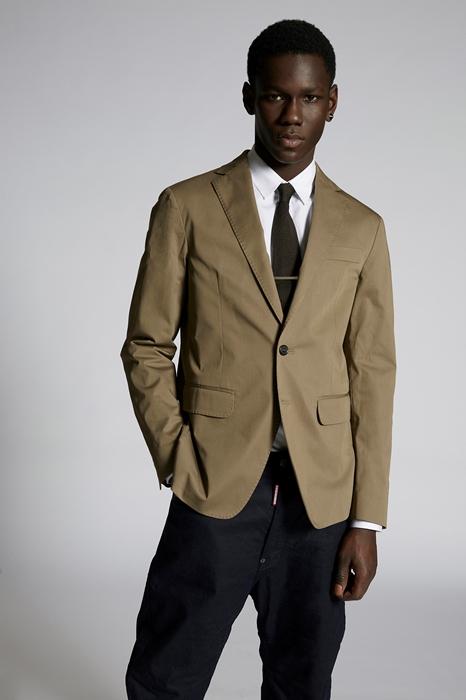DSQUARED2 Men Blazer Military green Size 32 97% Cotton 3% Elastane