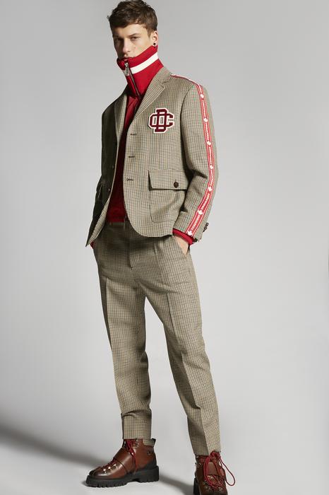 DSQUARED2 Men Blazer Multicoloured Size 46 100% Virgin Wool