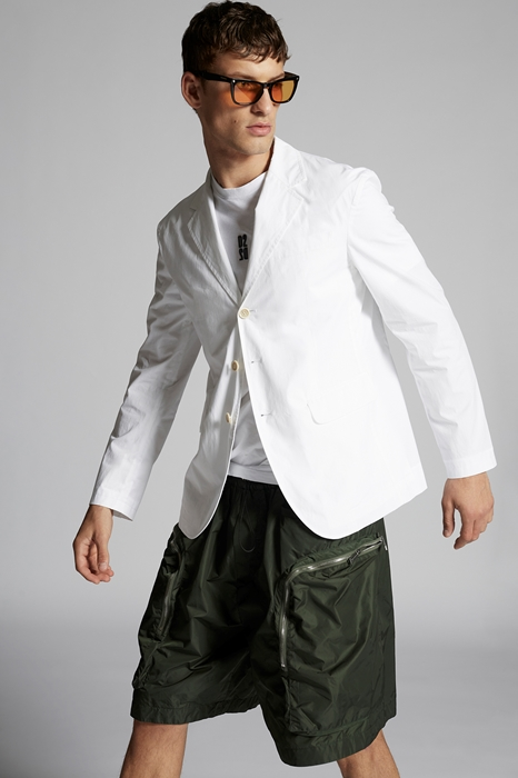 DSQUARED2 Men Blazer White Size 36 100% Cotton