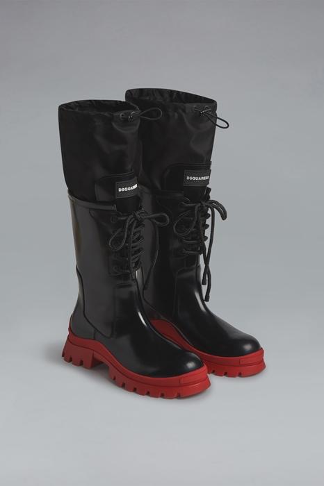 DSQUARED2 Men Boot Black Size 10 80% Calfskin 20% Polyamide