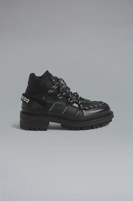 DSQUARED2 Men Boot Black Size 13 100% Calfskin