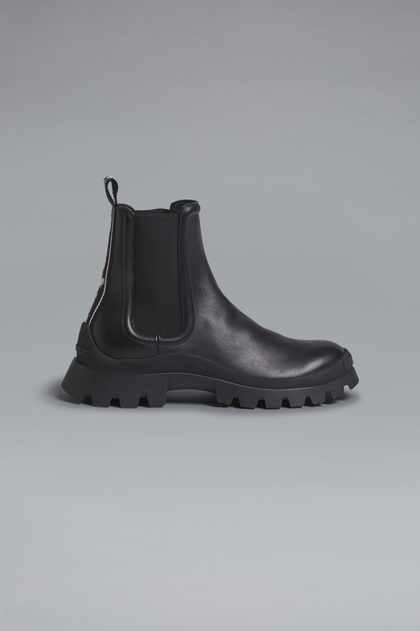 DSQUARED2 Men Boot Black Size 7 90% Calfskin 5% Polyester 5% Thermoplastic polyurethane