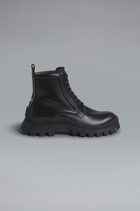 DSQUARED2 Men Boot Black Size 9 90% Calfskin 5% Polyester 5% Thermoplastic polyurethane